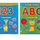 ABC & 123 I CAN COLOR Coloring & Educational Books