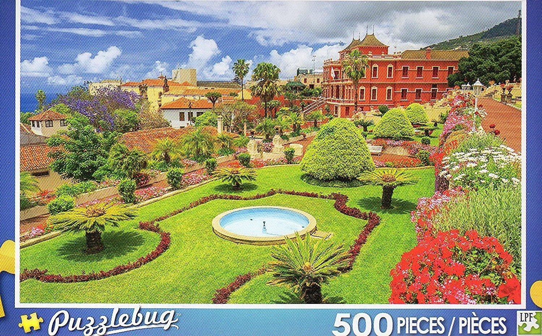 PuzzleBug 500 Piece Puzzle ~ Beautiful Tropical Botanical Gardens