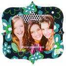 Darice LockerLookz Locker Frame - Aqua Flowers