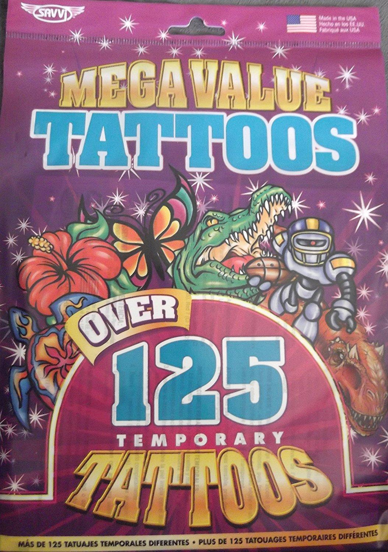 Savvi Mega Value Pack - Over 125 Temporary Tattoos
