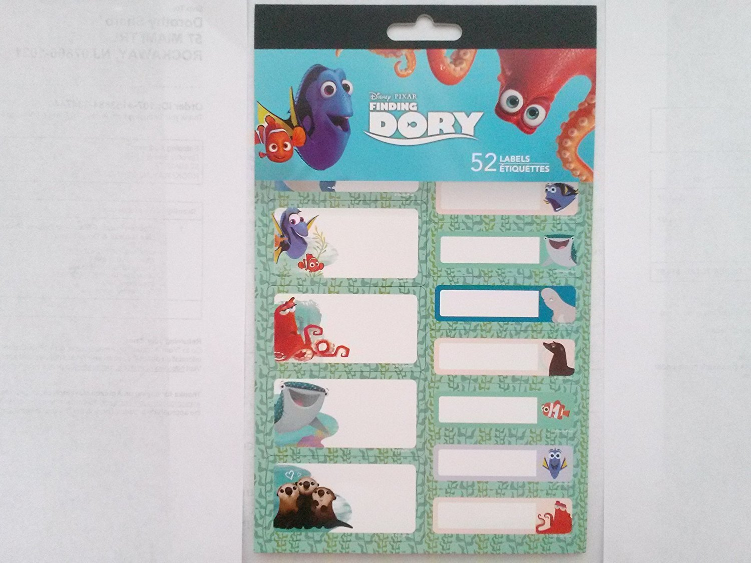 Finding Dory 52 Labels Adhesive Stickers