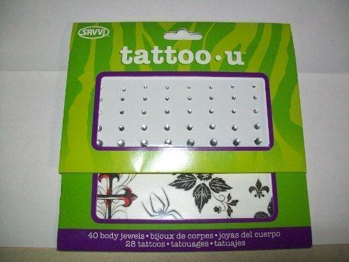 Tattoo - U, 28 Temporary Tattoos and 40 Body Jewels - True Love