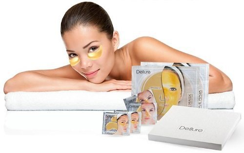 Dellure Collagen Facial Gold Mask Mask Anti-aging Set
