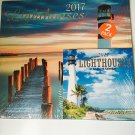 Lighthouses 12-Month 2017 Calendar with Mini Calendar