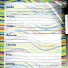 Magnetic Dry Erase Calendar - Weekly Planner - (Full sheet Magnetic) - v1