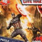 Captain America Civil War 100 Piece Puzzle - Avengers - (Cap Fighting Iron Man) - v1