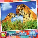 Mommy and Baby Tiger - 100 Piece Jigsaw Puzzle Puzzlebug