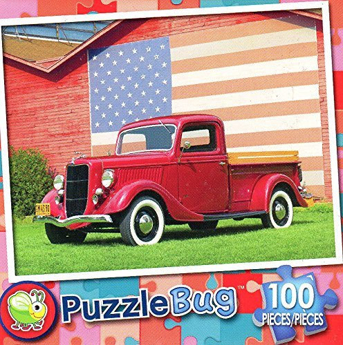 American Pickup Truck - 100 Piece Jigsaw Puzzle Puzzlebug