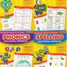 Subtraction , Addition , Phonics & Spelling Educational Workbooks - Grade 1 (4 Workbook Pack)