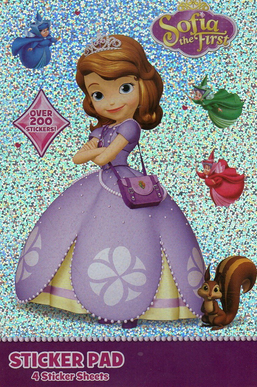 Sofia the first sticker pad 4 sheet stickers 200 for Sofia the first tattoos