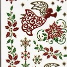 Nappy Christmas Metallic Temporary Tattoos - 1 sheet -v4