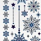 Nappy Christmas Metallic Temporary Tattoos - 1 sheet