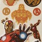 Marvel Avengers Iron-Man Temporary Metallic Tattoos