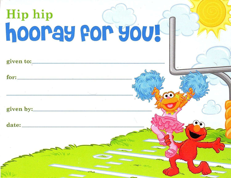 Sesame Street Classroom Certificates - v3