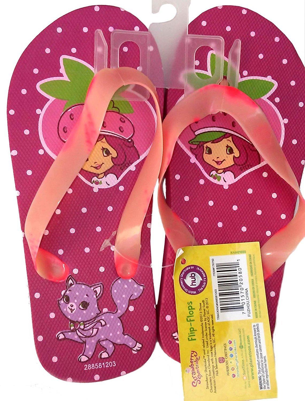 Strawberry Shortcake Flip Flops Size M 10 - 11 (Kids) - v3
