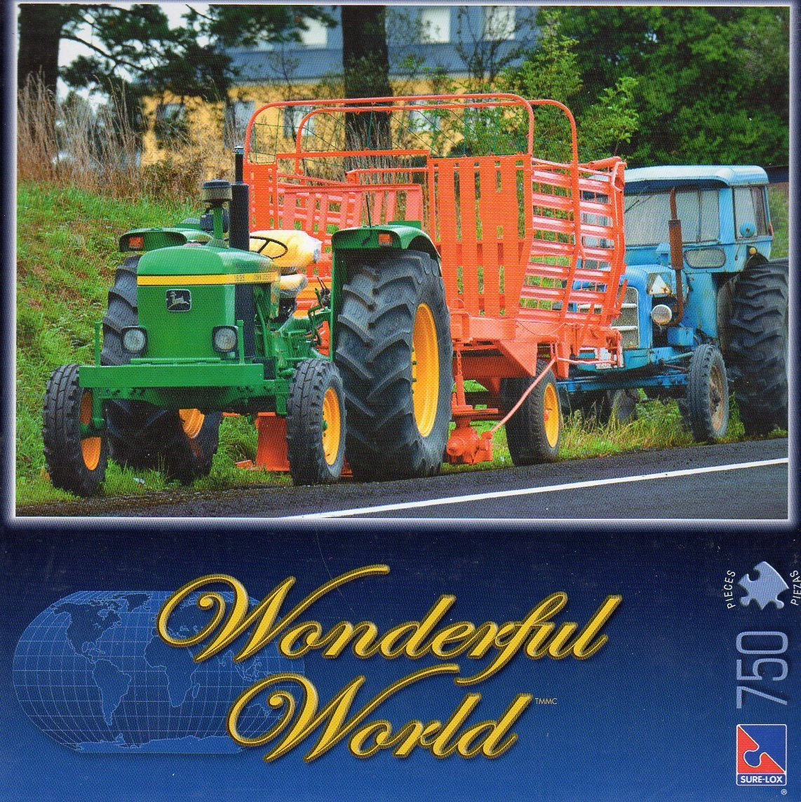 Rural Road Tractors - Wonderful World - 750 Piece Jigsaw Puzzle