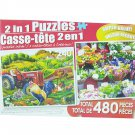 LPF 480 Piece 2-in-1 Puzzle ~ On the Farm & Colorful Market Flowers