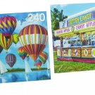 LPF 480 Piece 2-in-1 Puzzle ~ Hot Air Balloons Ii & Cotton Candy and Caramel Apples At the Fair
