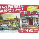 LPF 480 Piece 2-in-1 Puzzle ~ Coming Home & Country Store, Cape Cod, Massachusetts