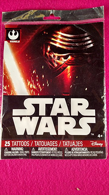 Star Wars Temporary Tattoos 25 Count