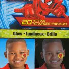 Marvel Ultimate Spiderman Glow 20 Tattoos Temporary but FUN