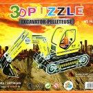Excavator - Pelleteuse - 3D Puzzle - Assembly Model Puzzle Kit