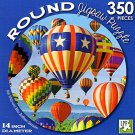 Red White and Blue Balloon Asension - 350 Piece Round Jigsaw Puzzle