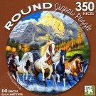 Wild Run by John Crisp - 350 Piece Round Jigsaw Puzzle