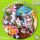 Playtime in the Garden by Vivienne Chanelle - 350 Piece Round Jigsaw Puzzle