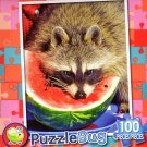 The Watermelon Bandit - PuzzleBug - 100 Piece Jigsaw Puzzle