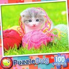Kitten at Play - PuzzleBug - 100 Piece Jigsaw Puzzle