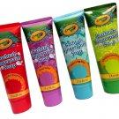 Crayola Fingerpaint Bathtub Soap Assorted Colors - four (4) 3 Fl Oz Tubes