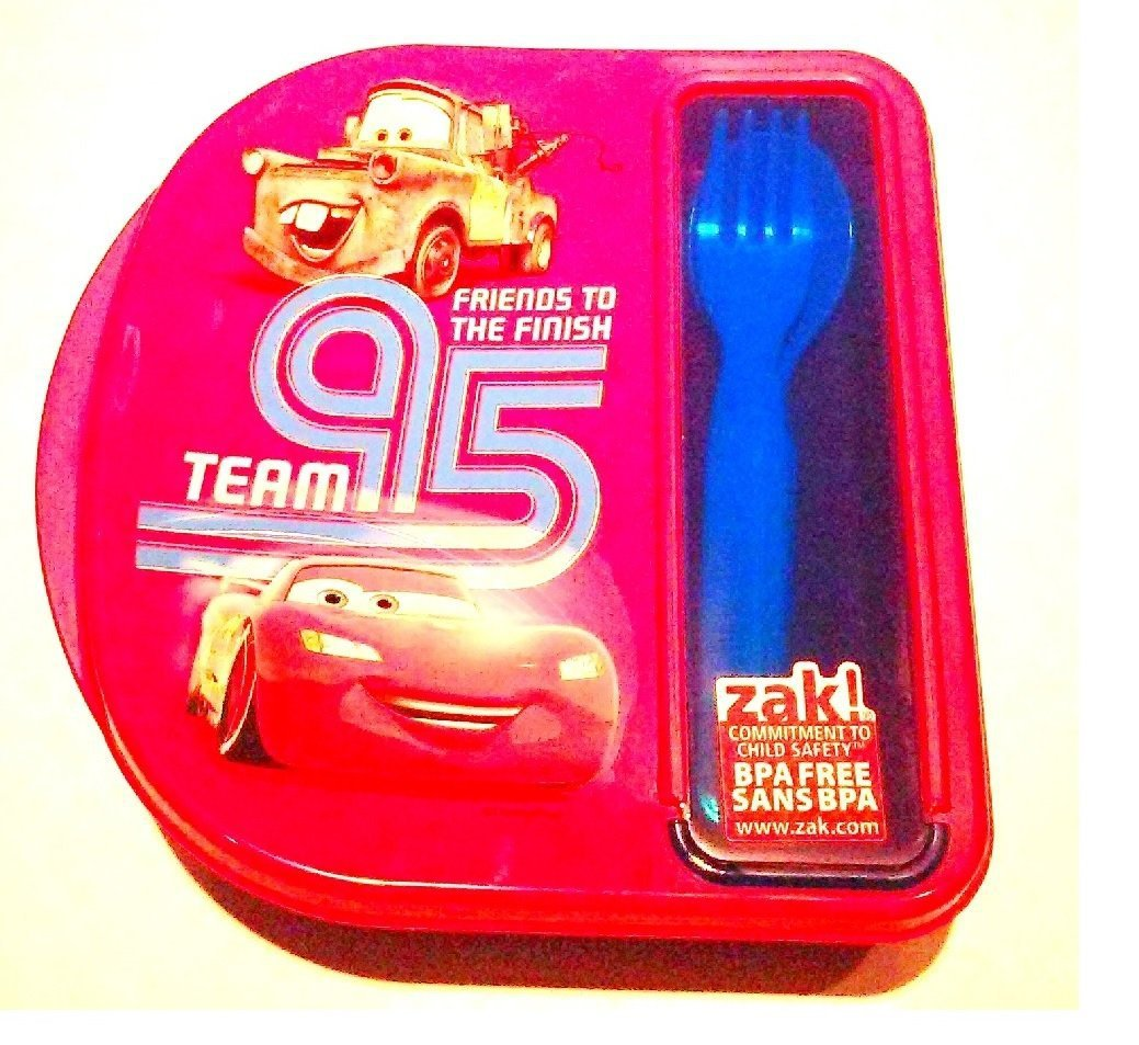 Cars Lunch Box Set PBA Free Fork Spoon Included Zak