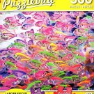 School of Colorful Siamese Glass-Fishes - 300 Piece Jigsaw Puzzle Puzzlebug