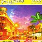 Ocean Drive, Miami Beach, FL - 300 Piece Jigsaw Puzzle Puzzlebug