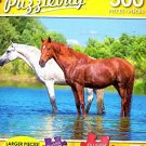 Horses Cooling off in the Pond- 300 Piece Jigsaw Puzzle Puzzlebug