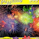 Colorful Fireworks Over the Night Sky - 300 Piece Jigsaw Puzzle Puzzlebug