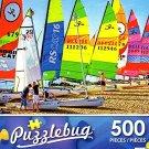 Colorful Catamarans, Spain - 500 Piece Jigsaw Puzzle - Puzzlebug - p 001