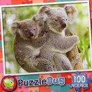 Koala Mother and Baby - PuzzleBug - 100 Piece Jigsaw Puzzle