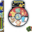 Pokemon Sticker Book 1000 pc and Pokemon Eraser 7 Pack