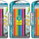 Rainbow Fashion Ink Pens, 3 Packs with 10 pens in each pack, Assorted Colors