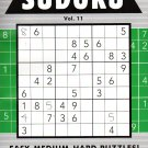 Large Print Sudoku Puzzle - Easy - Medium - Hard - All New Puzzles - (2017) - Vol.11
