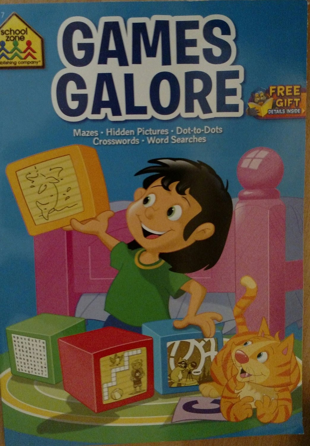 School Zone Games Galore Mazes, Hidden Pictures, Dots-to-Dots, Crosswords, Word Searches