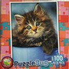 Puzzlebug 100 Pieces Jigsaw Puzzle: Teacup (Cute Kitten)