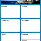 Magnetic Dry Erase Calendar - Weekly Planner / Locker Wallpaper - (Full sheet Magnetic) - v5