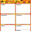 Magnetic Dry Erase Calendar - Weekly Planner / Locker Wallpaper - (Full sheet Magnetic) - v3
