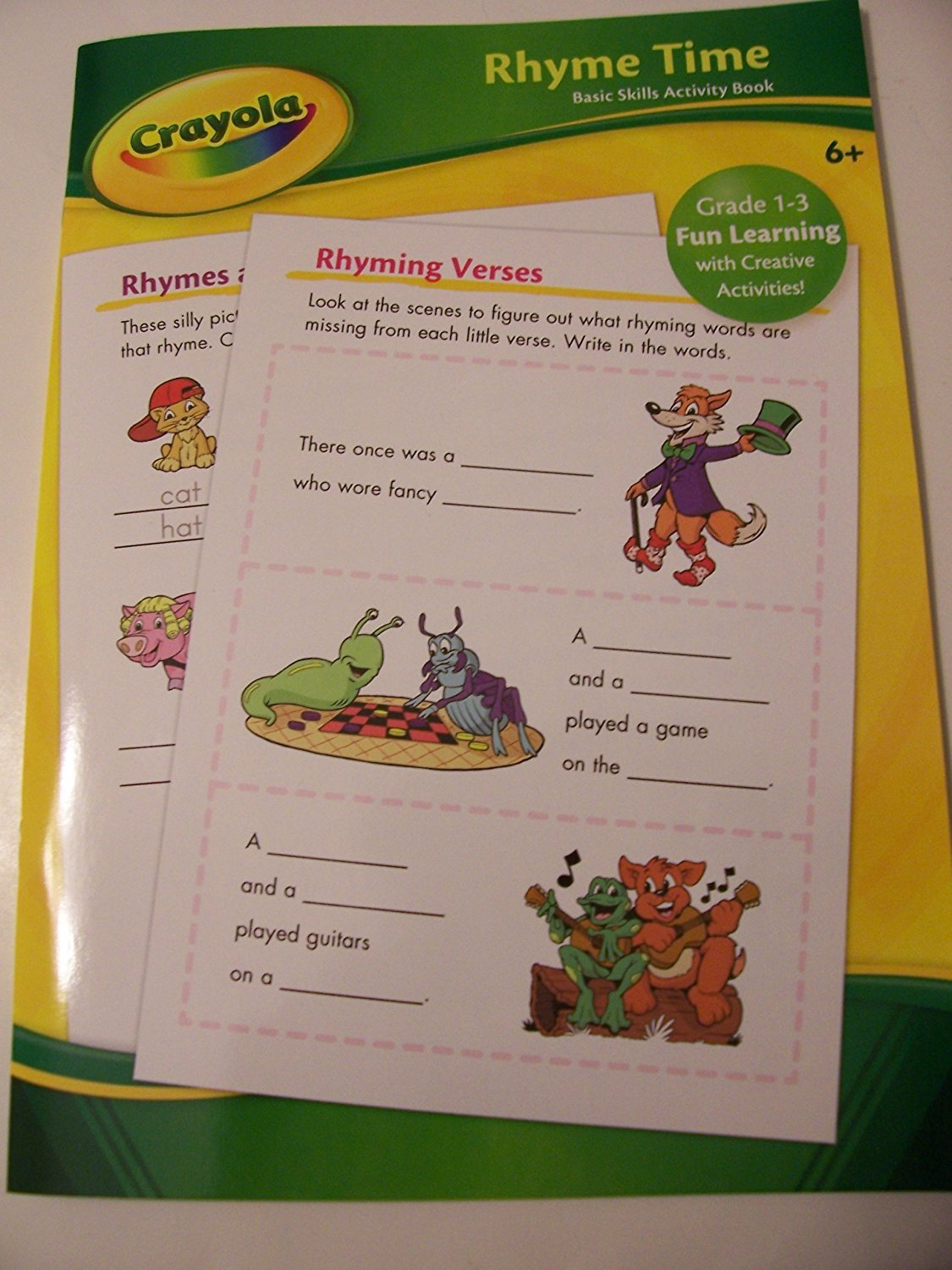 Crayola Educational Activity Book ~ Rhyme Time (Grade 1-3 Fun Learning with Creative Activities)