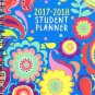 2017 - 2018 Student Planner Calendar (Floral Paisley)  - Appointment Book Organizer - (Spiral Bound)