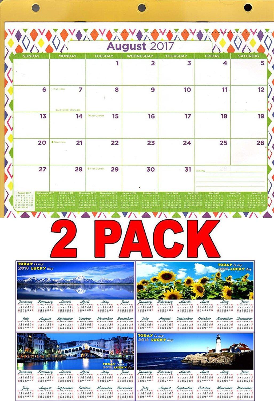 2017 - 2018 12 Months Student Calendar / Planner -  (Edition #3) + Bonus 2018 Magnetic Calendar