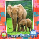 Mother and Baby Elephant - PuzzleBug - 100 Piece Jigsaw Puzzle